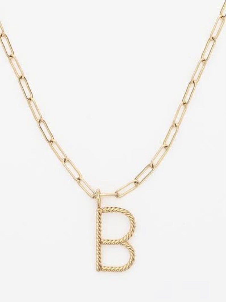 The Aspen Initial Paperclip Necklace