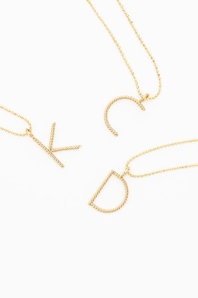 The Aspen Long Initial Necklace