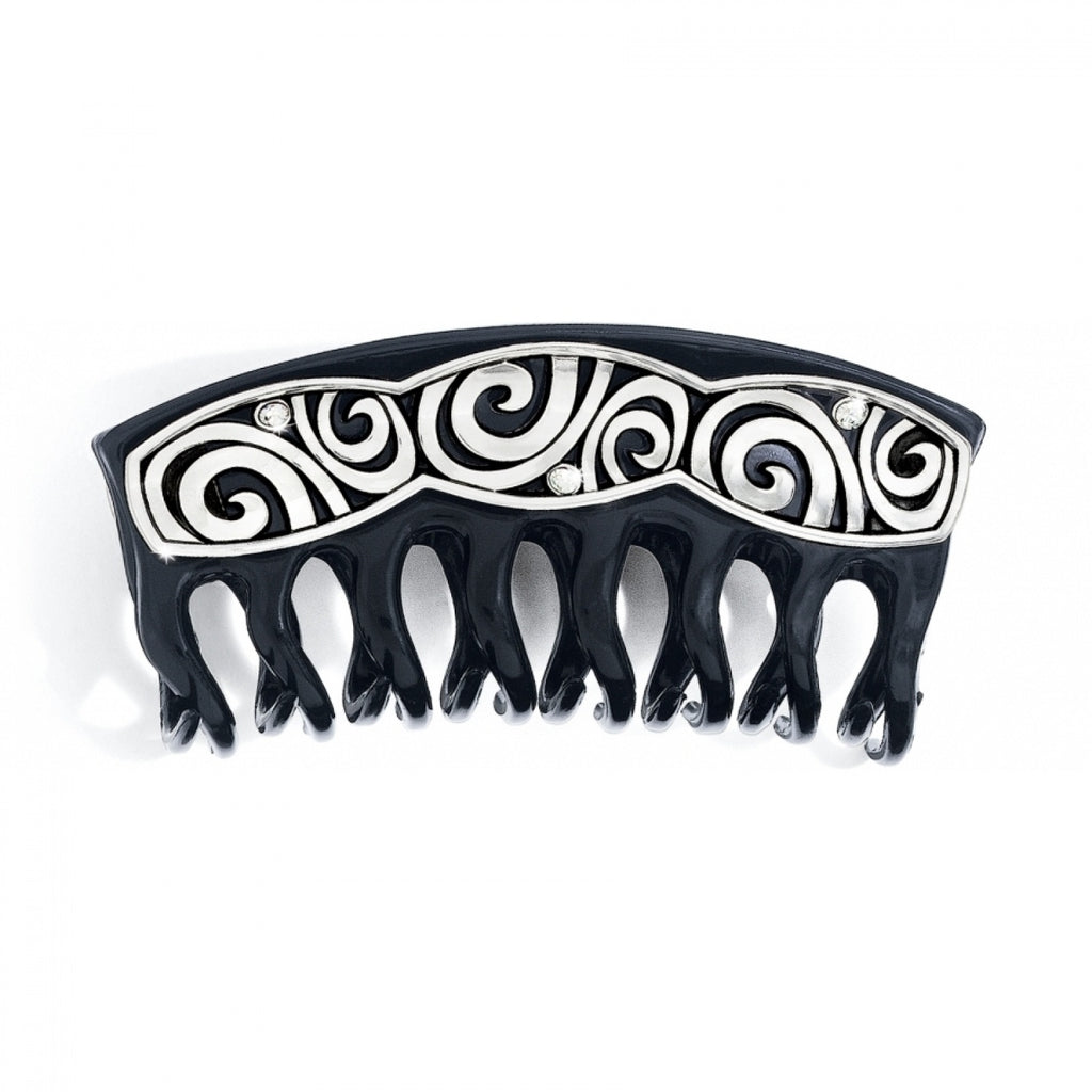 London Groove Large Hair Clip SILVER-BLACK