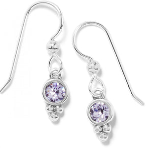 Color Drops French Wire Earrings Mauve