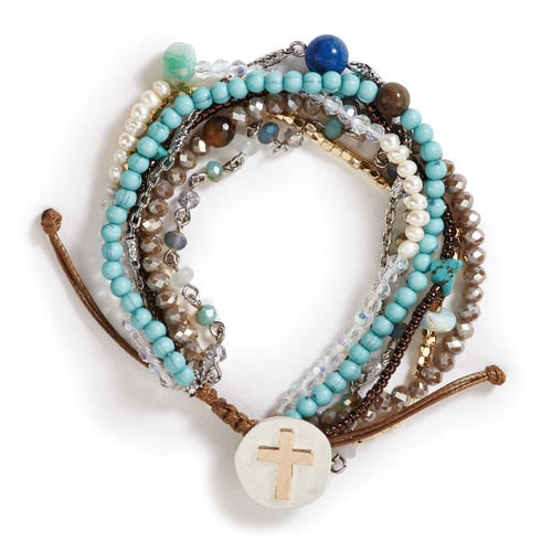 Turquoise Your Journey Prayer Bracelet