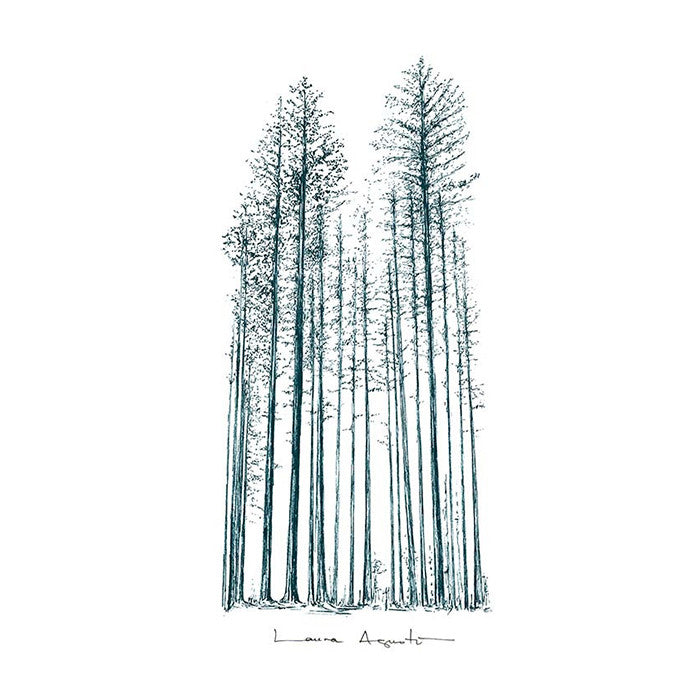 Print Laura Agustí - Blue forest