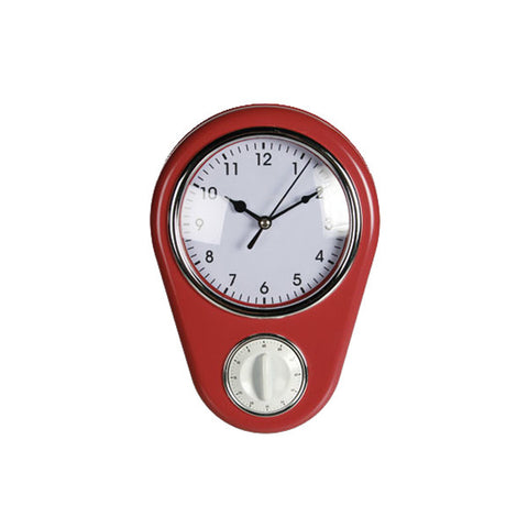 Reloj de pared con minutero Kitchen rojo