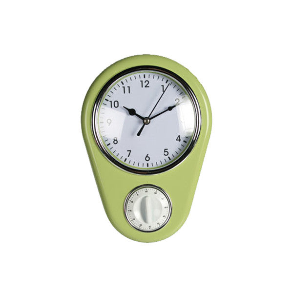 Reloj de pared con minutero Kitchen verde