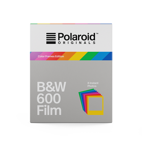 Polaroid originals cartucho papel 600 blanco y negro marco colores color frame B&W cámara instantánea blanco y negro fotografía fotos analógica color film