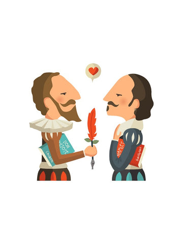 ilustración illustration William Shakespeare Miguel Cervantes literatura print Tutticonfetti comprar