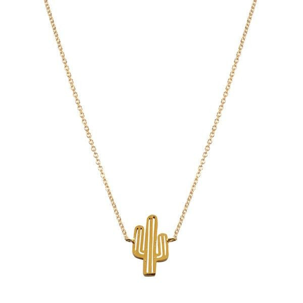 Gargantilla Cactus dorada golden necklace 7bis bisutería acero inoxidable dorada plateada collar necklace París