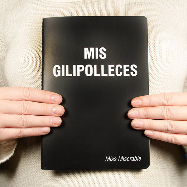 Cuaderno libreta mis gilipolleces existencialistas miss miserable