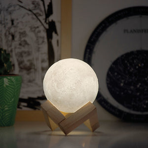 Lámpara led luna ambiente quitamiedos moon lamp regalo