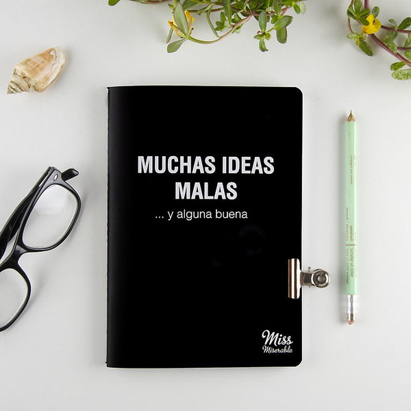 Libreta cuaderno miss miserable malas ideas buenas ideas