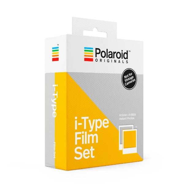 Polaroid One Step 2 i-type color blanco y negro B&N B&W pack kit set x2 película cartucho papel instantánea fotografía vintage retro Polaroid Originals química