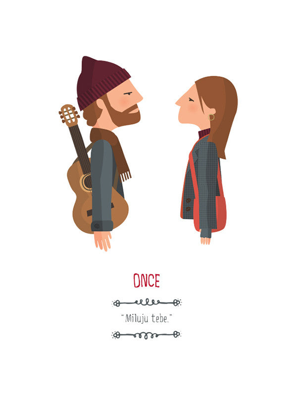 movie película Once romance musical ilustración Tutticonfetti