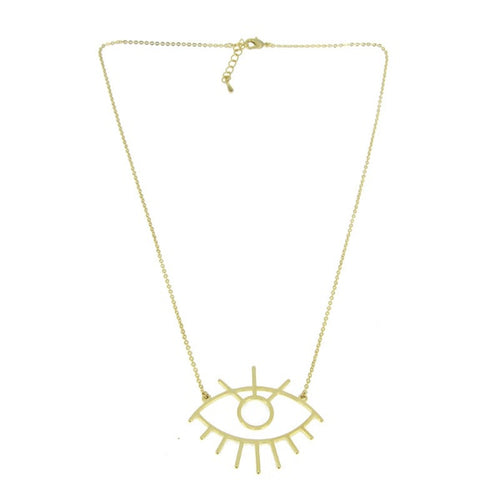 Collar Ojo dorado iris necklace colgante