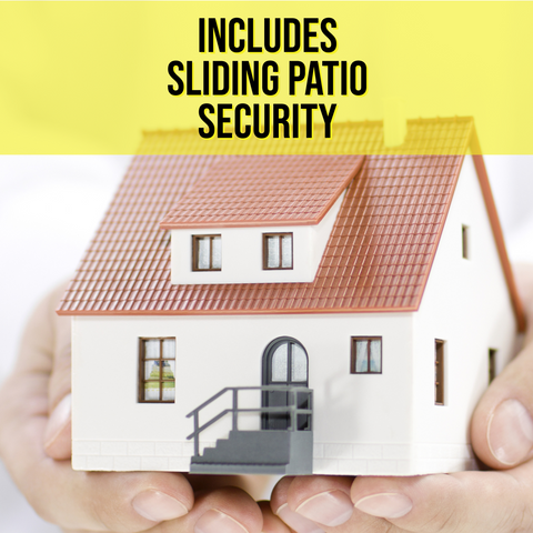 Full Home Protection Pack with Sliding Patio Security - FIGHT BACK HOME SECURITY
