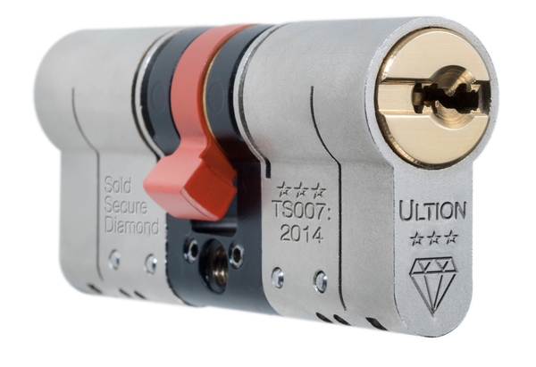 Ultion 3* Cylinder Lock - Key to Key (3 Keys Included) - jptestsolutions