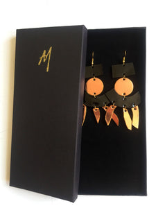 Nicté leather earrings
