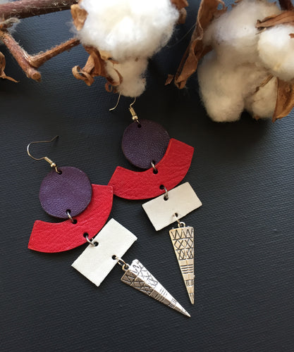 Yolyo leather earrings