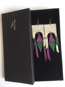 Izel leather earrings