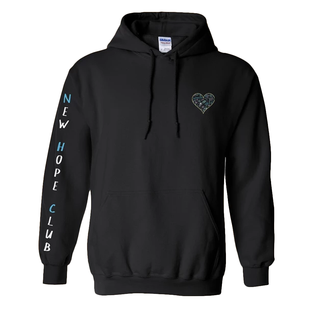 Doodle Heart Pullover Hoodie