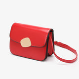Abstract hardware flap crossbody bag