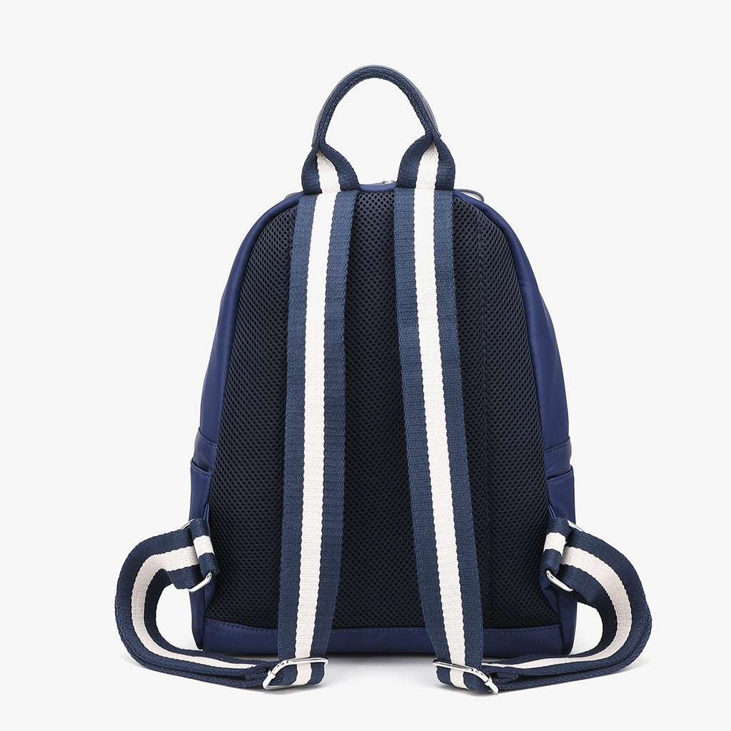 Striped nylon backpack