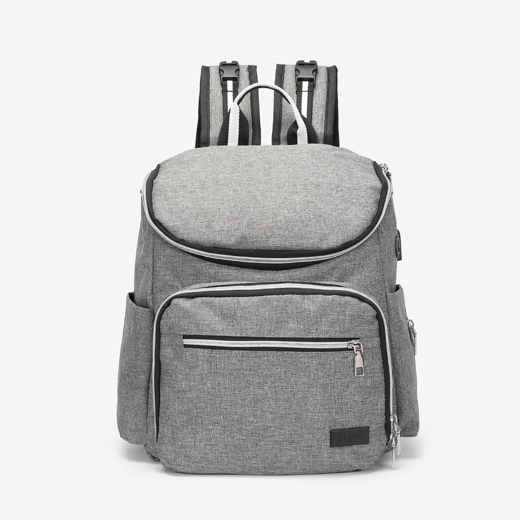 Functional nylon backpack