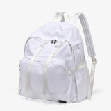 Buckle clip strapped nylon backpack