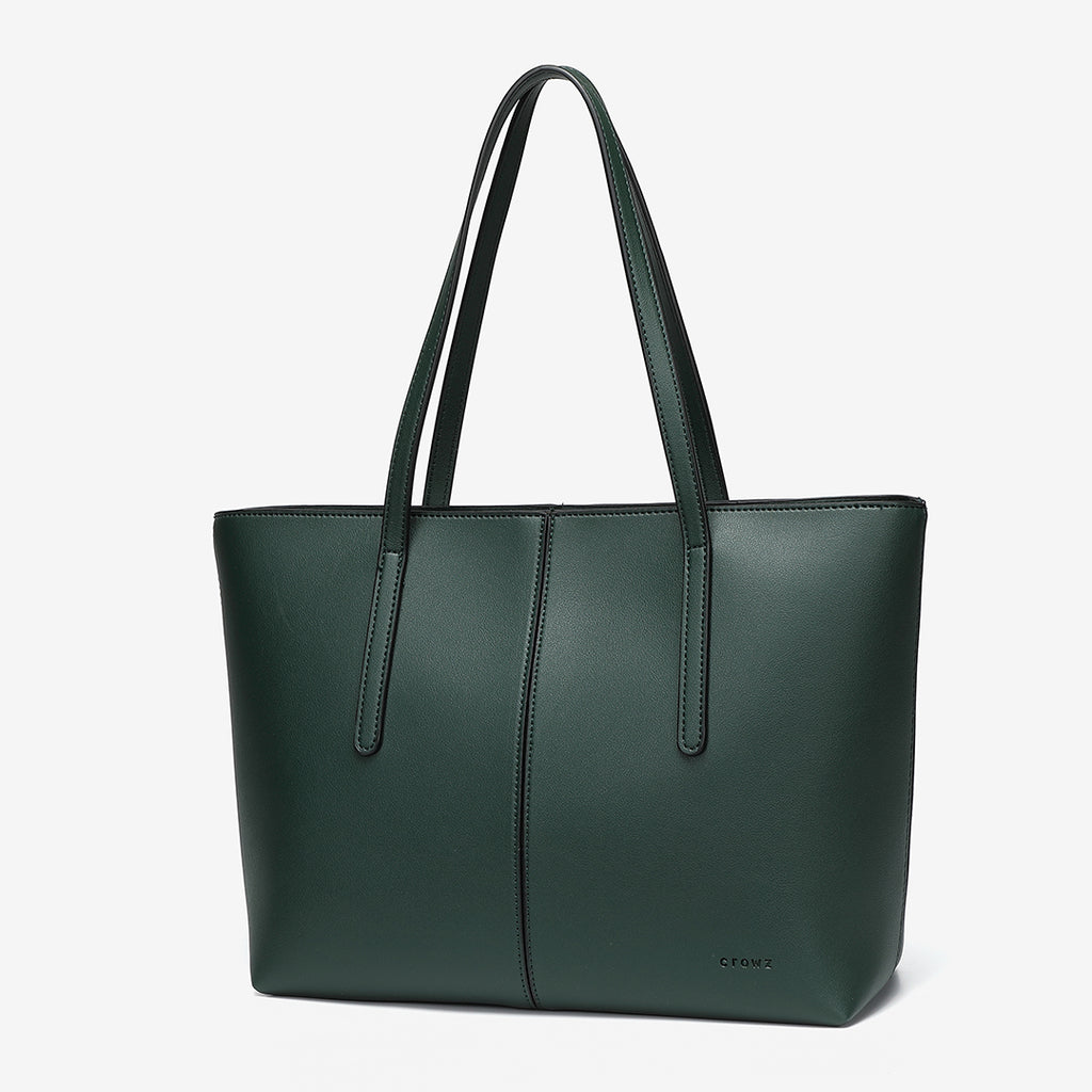 Centre stitched PU leather tote