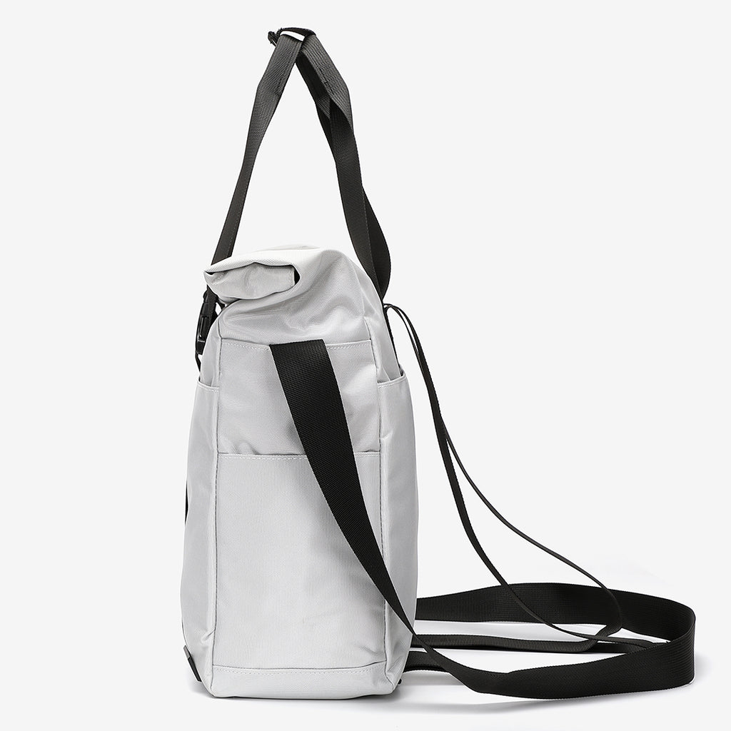 Rolled top dual-purpose unisex canvas bag
