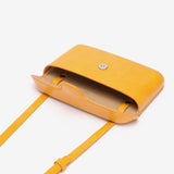 Streamlined PU leather crossbody bag