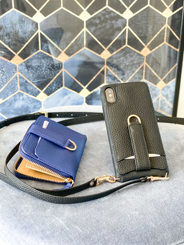 Vaultskin Belgravia Zipper wallet blue and Victoria iPhone case for the iPhone 6