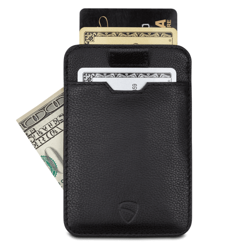 credit card wallet, best rfid travel wallet - Vaultskin CHELSEA in Black
