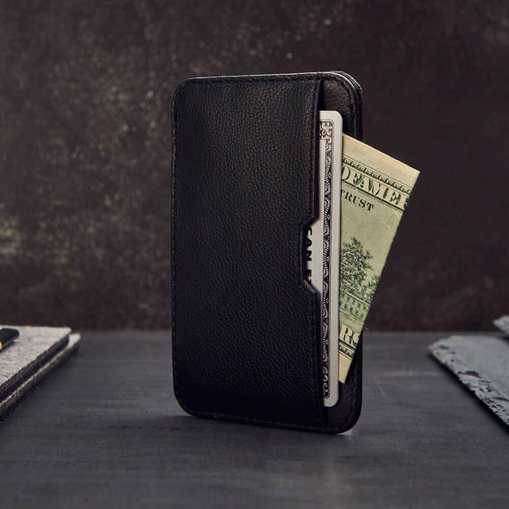 smart wallet, rfid card wallet - Vaultskin CHELSEA in Black