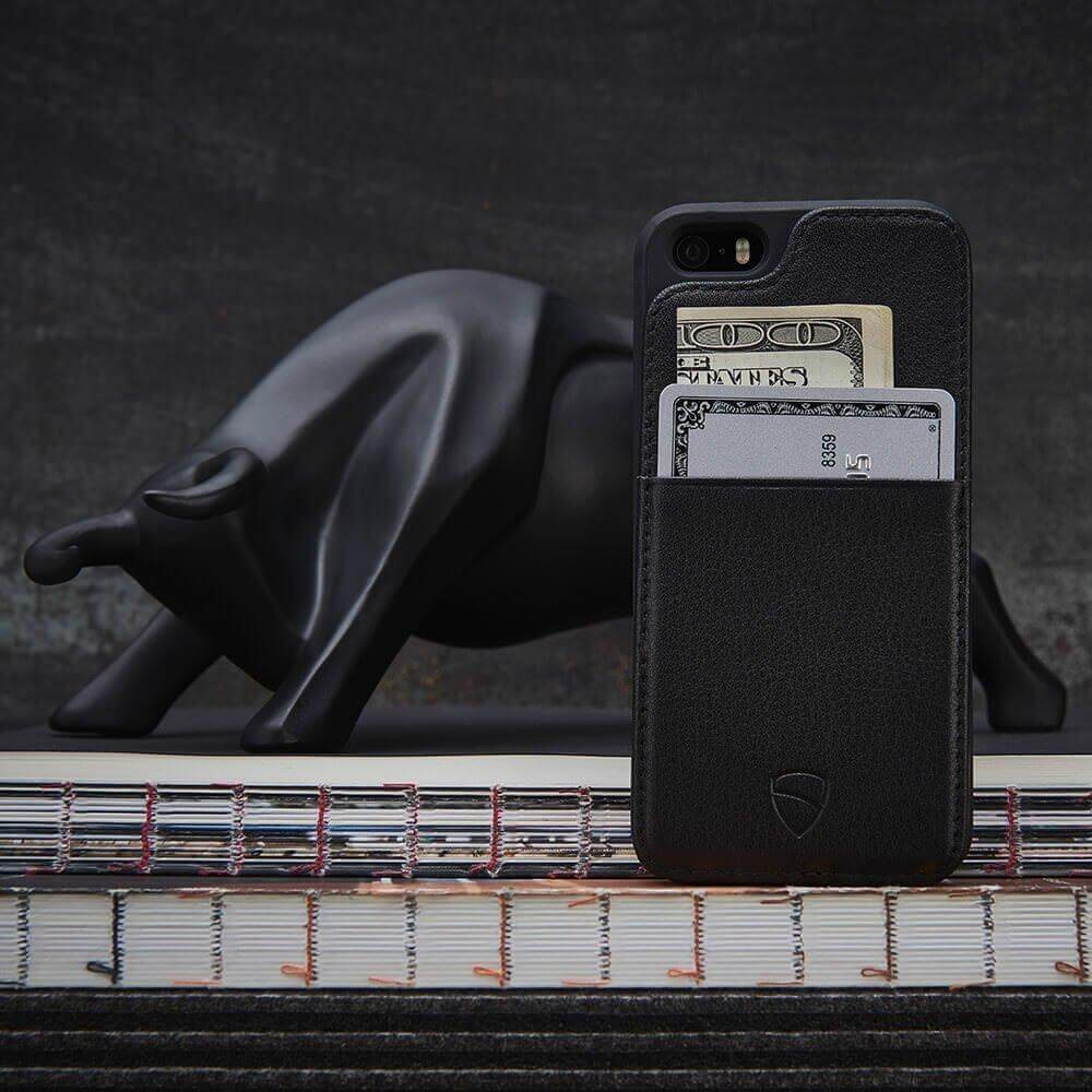 Designer wallet case for your iPhone 5 / SE - ETON Armour by Vaultskin London