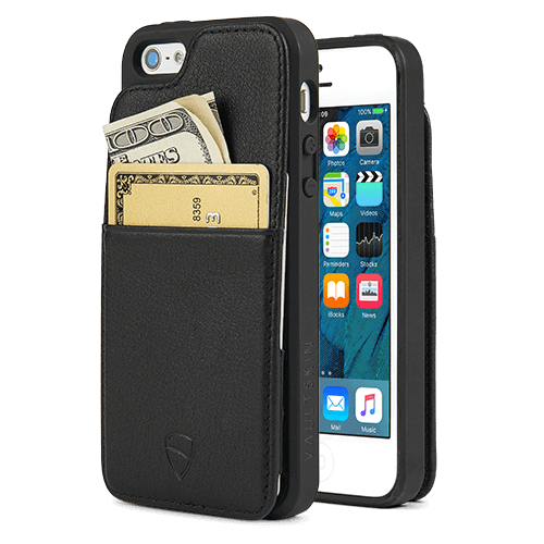 iPhone wallet case made from Italian leather - Vaultskin ETON Armour