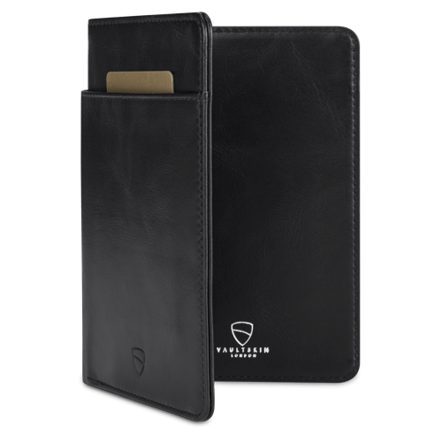 document holder with rfid protection - Vaultskin Kensington in Black