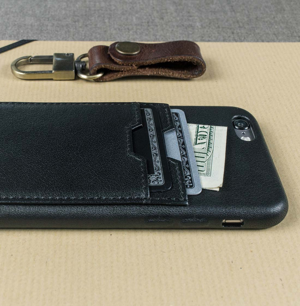 Luxury iPhone case with a pocket for cards - SOHO TWO by Vaultskin London