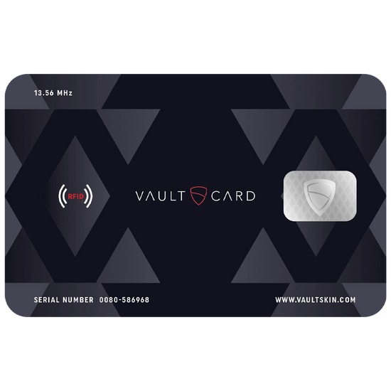 VAULTCARD RFID blocking and jamming credit card id protection wallet