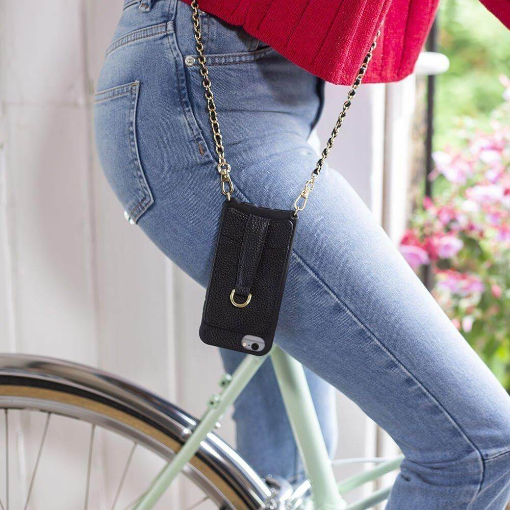Shoulder crossbody for iPhone X / Xs with card wallet - VICTORIA by Vaultskin London