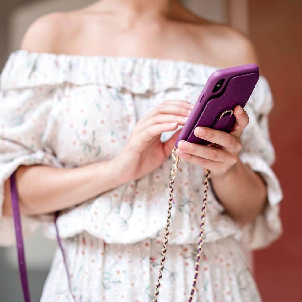 Protective crossbody case for your iPhone Xs Max - VICTORIA by Vaultskin London