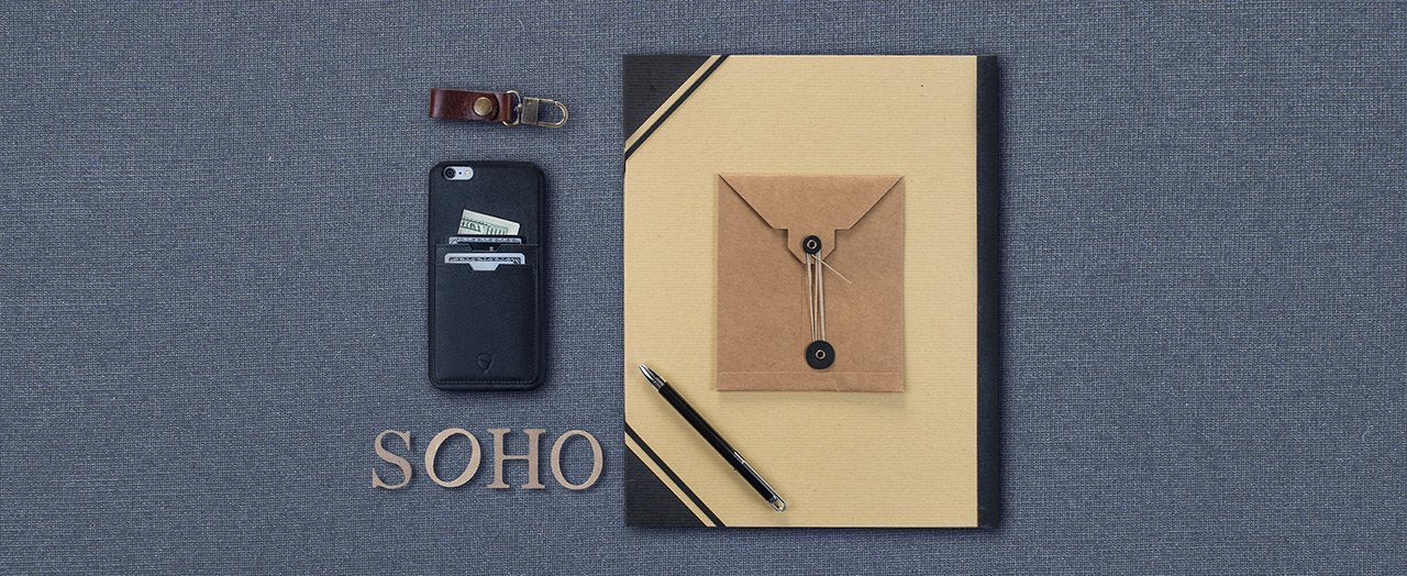 iPhone case with card holder - SOHO TWO by Vaultskin London