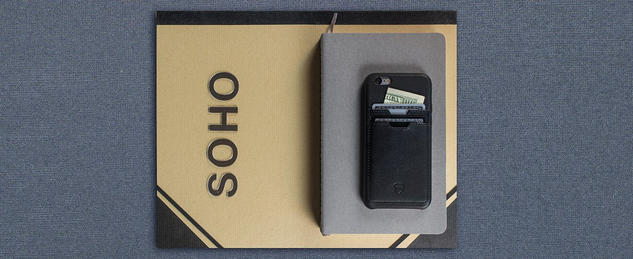 iPhone case with card holder - SOHO ONE by Vaultskin London