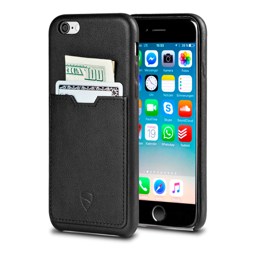 iPhone wallet case made from Italian leather - Vaultskin SOHO ONE