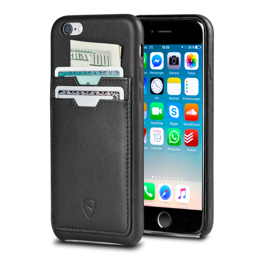 iPhone wallet case made from Italian leather - Vaultskin SOHO TWO