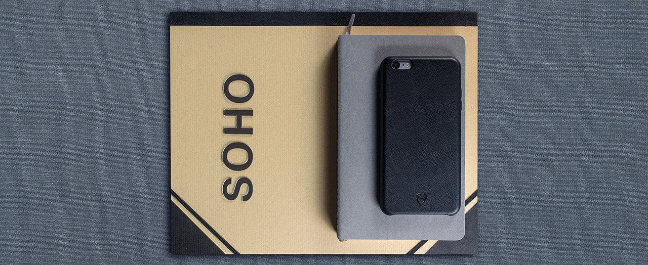 Slim iPhone case made from genuine leather - SOHO by Vaultskin London
