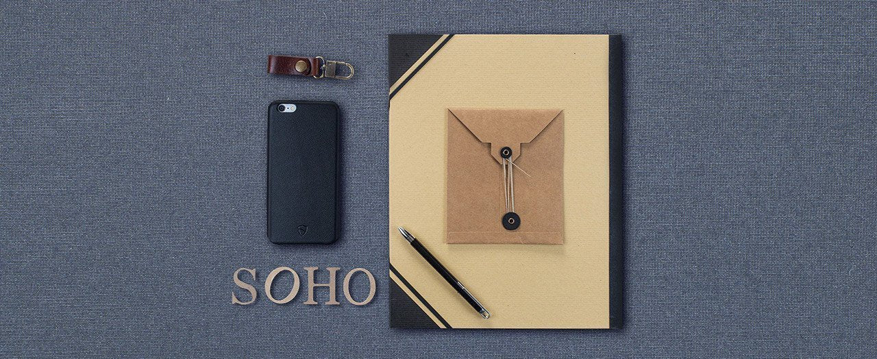 Minimalist leather bumper case for iPhone 6 / 6s Plus - SOHO by Vaultskin London