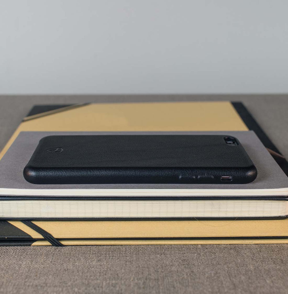 Minimalist iPhone case made from Italian leather