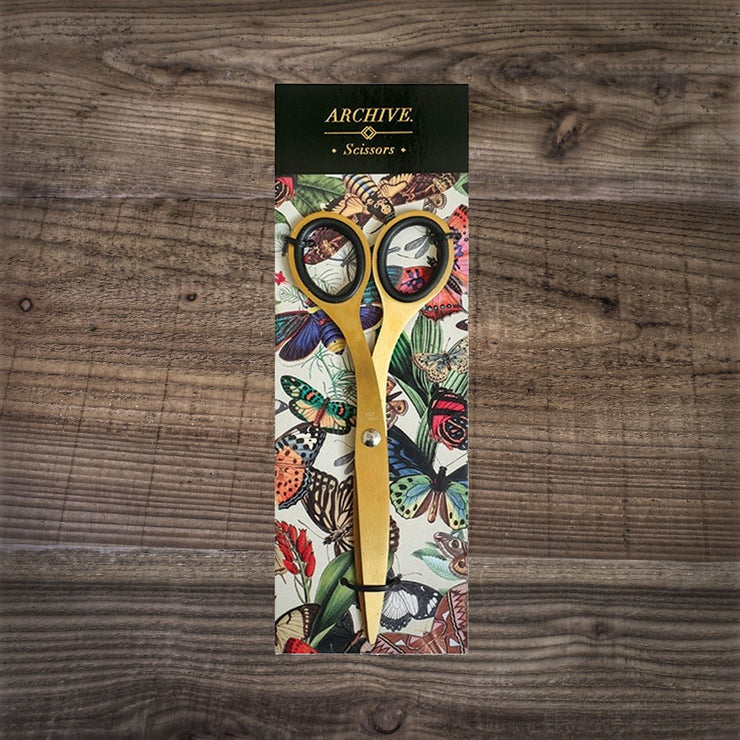 Botanical Print Scissors