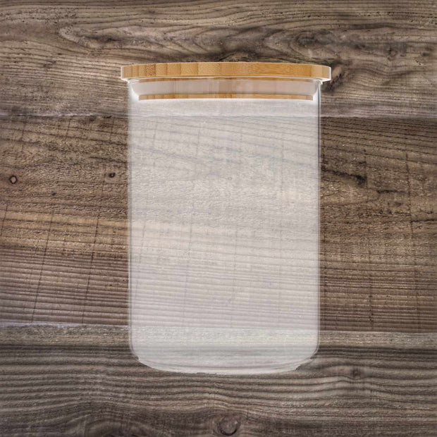 Audley Storage Jar with Bamboo Lid - Glass