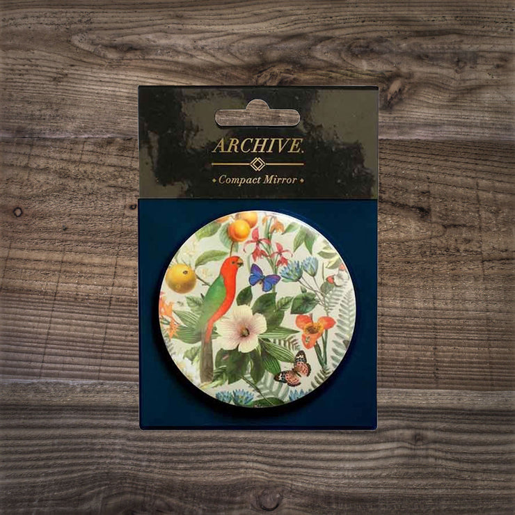 Botanical Print Cosmetic Mirror